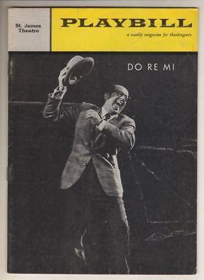 "Phil Silvers & Nancy Walker   ""Do Re Mi""   Playbill   Comden & Green  1961"