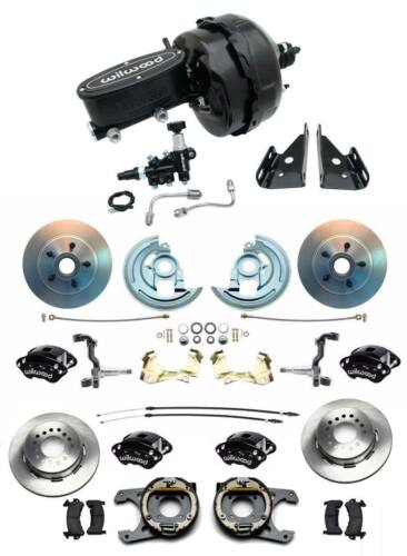 "1964-1972 Chevelle A Body Wilwood Front Rear Disc Brake Kit 9"" Dual Booster Kit"