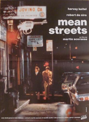 MEAN STREETS - SCORSESE / DE NIRO / KEITEL / NEW YORK - FRENCH MOVIE POSTER