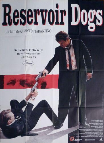 RESERVOIR DOGS - TARANTINO / KEITEL / GUN - ORIGINAL LARGE FRENCH MOVIE POSTER