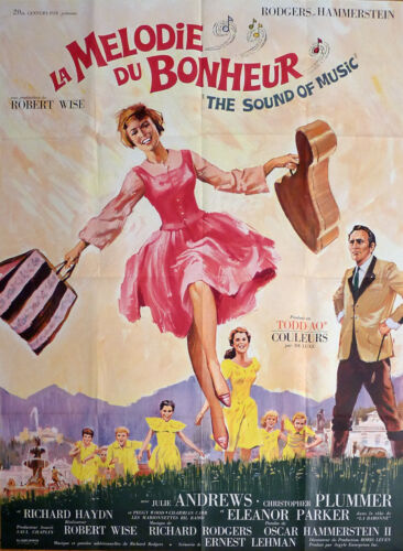 THE SOUND OF MUSIC - ANDREWS / WISE / PLUMMER - ORIGINAL LARGE MOVIE POSTER