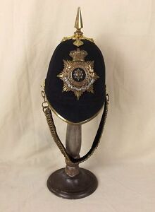 Victorian-Worcestershire-Regiment-Spiked-Black-Cloth-Spikehelmet