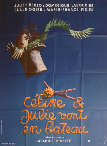 CELINE ET JULIE VONT EN BATEAU / GO BOATING - RIVETTE - ORIGINAL LARGE POSTER