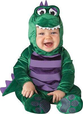 Baby Boys Girls Green Dinky Dinosaur Halloween Fancy Dress Costume Outfit 0-24ms