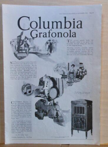1918 magazine ad for Columbia Grafonola - Hear greatest operatic music on record