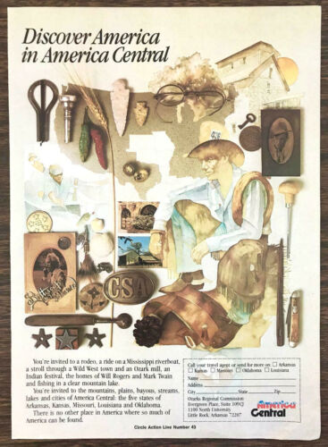 1979 Ozarks Regional Commission Tourism Ad Discover America in America Cenral
