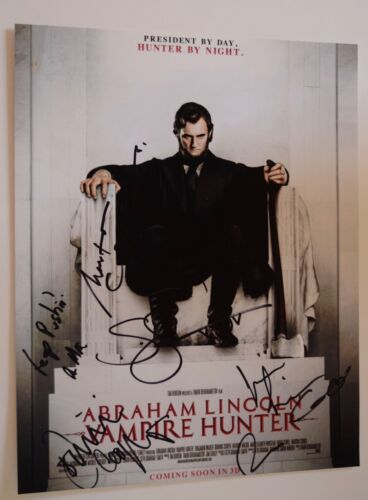 Abraham Lincoln Vampire Hunter Cast Signed Autographed 11x14 Photo by 7 COA VD