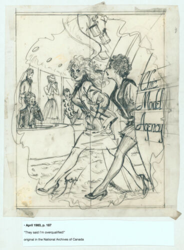 Doug Sneyd Signed Original Art Sketch Playboy Gag Rough Prelim April 1983