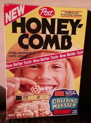 Post Honeycomb Creeping Monster inside cereal box 1976 NEW Better Taste 9 - Honeycomb Monster