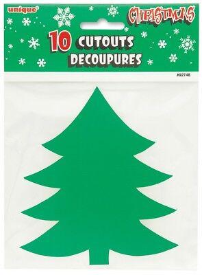 10 Mini Christmas Tree Cutouts 5 in.](Tree Cutouts)