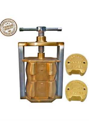 2dental Denture Flask Laboratory Compressor Equipment Compress Upper Lower Brass