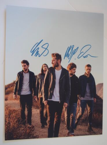 You Me At Six Signed Autographed 11x14 Photo COA VD