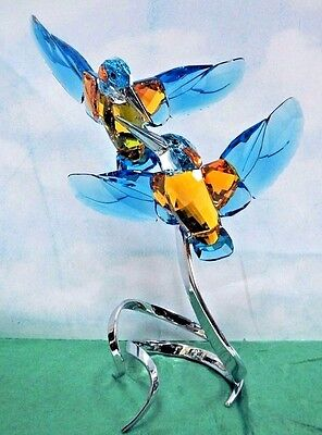 KINGFISHERS TURQUOISE PARADISE BIRD COUPLE 2016 SWAROVSKI CRYSTAL  5136835