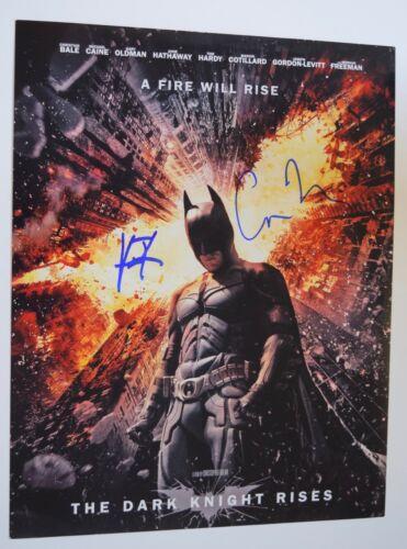 Hans Zimmer & Christopher Nolan Signed Autograph 11x14 Photo THE DARK KNIGHT VD
