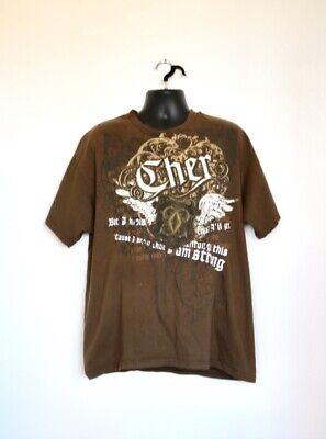 Vintage Cher Tour Style T-Shirt XL Brown Rare (Cher Style)
