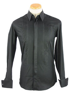 Dolce & Gabbana Black White Dress Shirt 15 15.5 15.75 16 16.5 17 17.5 18