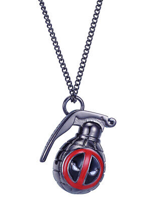 Deadpool Hand Grenade Pendant Necklace Marvel Comics Brand New In Box