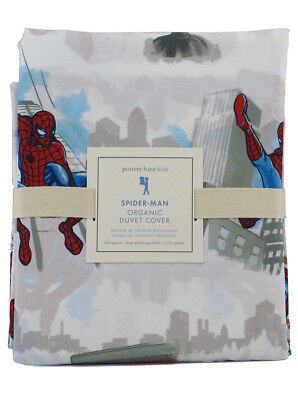 Pottery Barn Spider-Man Organic Duvet Cover Full-Queen Sized Marvel Bedding New