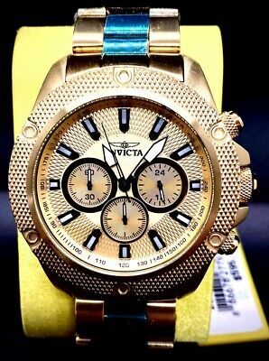 Invicta Men's 22720 Pro-Diver Gold Dial Gold Tone Chronograph 48MM Case Watch
