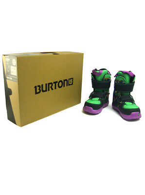 Burton Marvel Youth Kids Mini Grom Snowboard Boots Size 12c Incredible Hulk -