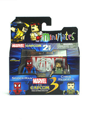Marvel Minimates Spider-Man & Chris Redfield Marvel Vs Capcom TRU Series 2 New