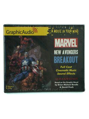 New Avengers Breakout Audio Book GraphicAudio Marvel Comics 5 Hours 5 CDs New (New Audio Book)