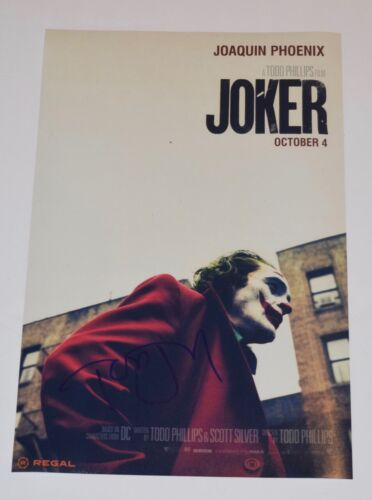 Todd Phillips Signed Autographed JOKER 11x17 Poster Photo Director COA