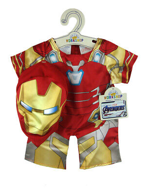 Build-A-Bear Iron Man Costume Suit Marvel Comics Avengers New With Tags