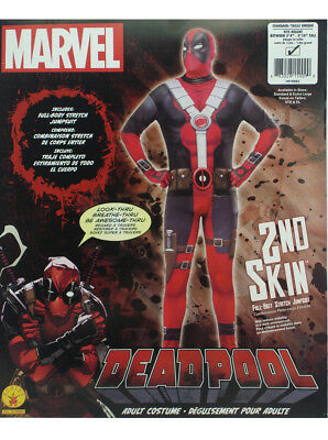 Deadpool Costume Adult Skin Suit Size Standard Marvel Comics Superheroes New