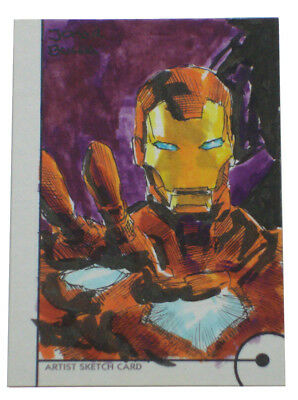 2013 Fleer Marvel Retro Iron Man Sketch Card Jomar Bulda Original Art 1/1