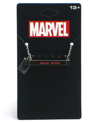 Marvel Black Widow Engraved Name Plate Necklace Stainless St