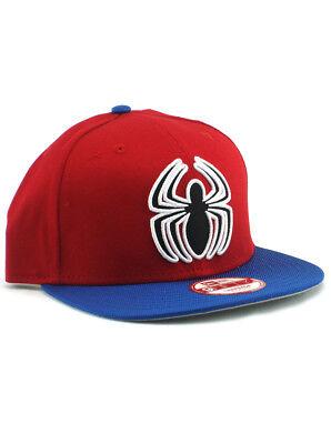 Neon Blue Spider (New Era Spider-Man 9fifty Snapback Hat Marvel Comics Red Blue Neon Logo)