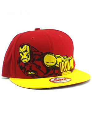d02bcd66480 New Era Iron Man 9fifty Snapback Hat Adjustable Marvel Classic Heroes Red  NWT