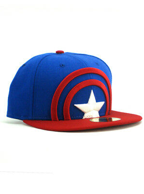 best loved 6ac1e df16f New Era Captain America 59fifty Custom Fitted Hat Size 7 1 4 First Avenger  NWT