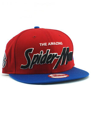 Awesome 100% Cotton Hat (New Era Amazing Spider-Man 9fifty Snapback Hat Adjustable Marvel Comics Heroes )
