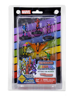 Marvel Heroclix Deadpool Mercs For Money 6 Figure Set Foolkiller Stingray New