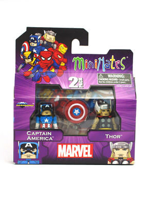 Best of Marvel Minimates Avengers 2 pack  Captain America and Thor New
