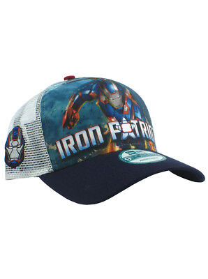 d893d733253 New Era Iron Patriot 9forty Adjustable Hat Marvel Heroes Iron Man 3 Movie  NWT