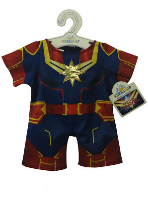 Build-A-Bear Captain Marvel Costume Suit Marvel Comics Avengers New With - Costumes With A Suit