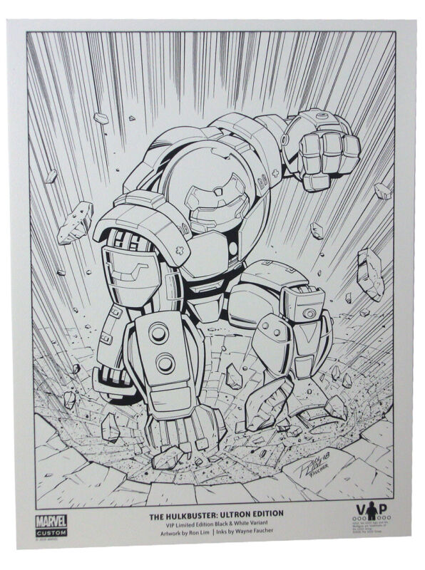 LEGO Hulkbuster Iron Man VIP Exclusive Promo Print Black & White Variant Edition