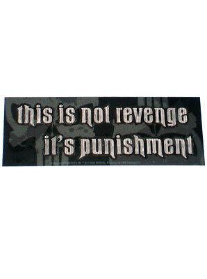 Punisher Marvel Comics Promotional Vinyl Sticker Lions Gate Films Revenge 2004
