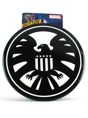 "Marvel's Shield Giant Button With Easel 6"" Inch Pin Marvel Comics New With Tag"