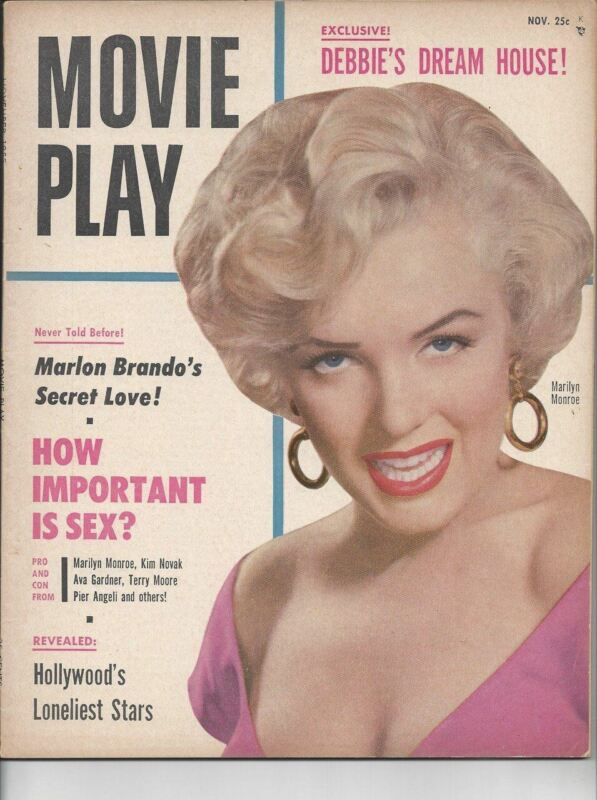 Marilyn Monroe - Movie Play - November 1955