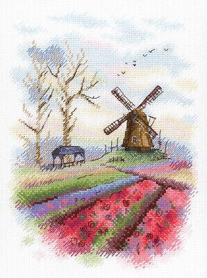 MP Studia / South Holland 25x18cm, A-017 / Aquarelle Collection/Cross Stitch Kit