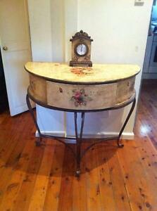 French style hand painted semi-circle table whit one draw Westmead Parramatta Area Preview