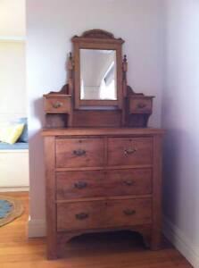 Antique pine dressing table Frankston Frankston Area Preview