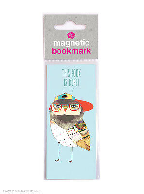 Brainbox Candy Reading novelty magnetic bookmark funny cheap present gift owl