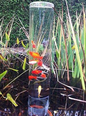 Goldfischrohr Fischturm Fischsäule 66 cm + 25 cm Sockel Teich-Deko