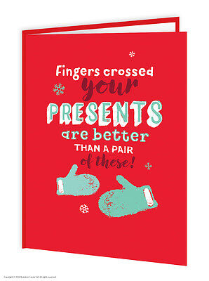 Unknown iNK funny humour 'Presents Better Than These!' christmas xmas card joke