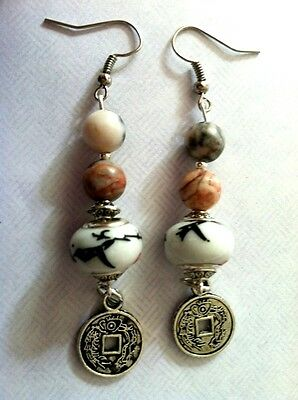 FENG SHUI COIN GOOD FORTUNE EARRINGS, Chinese, Wealth